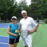 Tennis playing couple Julie Burdelski and Alex Bell of Essex on new Essex courts