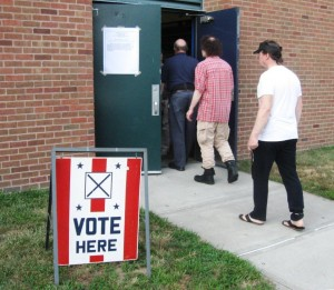 Polling taking place at the Old Saybrook High School (photo by Jerome Wilson)