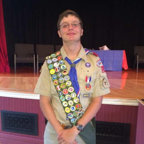 Chester/Deep River Boy Scout Troop 13 newest Eagle Scout Josef Fenton Lenz (photo Michael Rutty)