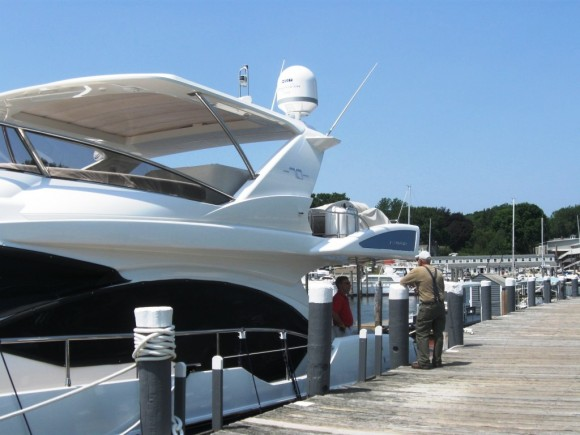 Typical luxury yacht found at Essex Island Marina