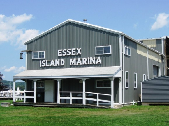 The welcoming building at the Essex Island Marina