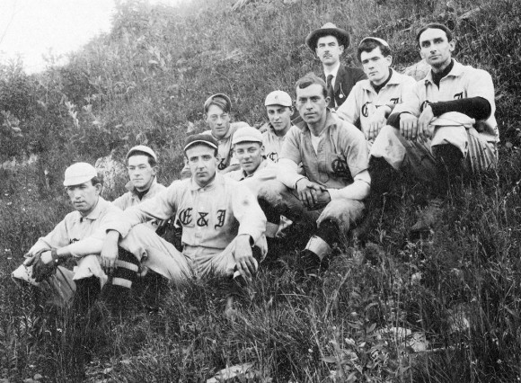 "An Essex baseball team, 1910, wearing shirts with ""C & I"" on them. Photo courtesy of Essex Historical Society"