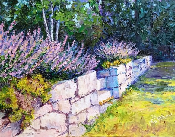 Catmint on the Wall  -  by Jill Beecher Matthew