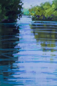 ": Deborah Quinn-Munson, who has recently returned to Chester, will open her show at Chester Gallery, on Friday, Sept. 19 during Come Home to Chester. Shown here is ""River Reflection,"" a pastel"