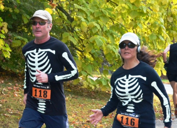 Skeletans Dash for Finish in the Ivoryton Library's Run Local Read Local last year