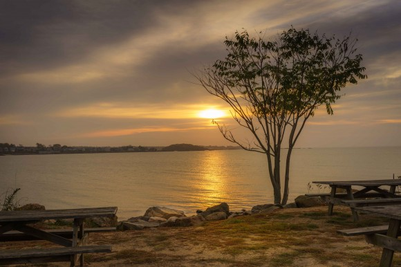 Sunrise over Long Island Sound (photo by Nigel Logan)