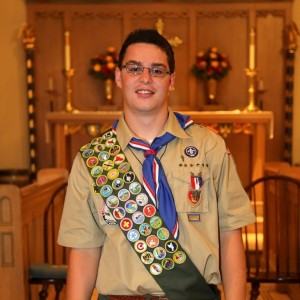 Chester/Deep River Boy Scout Troop 13 newest Eagle Scout Benjamin Dale Swartzell (Photo by John Kollmer)