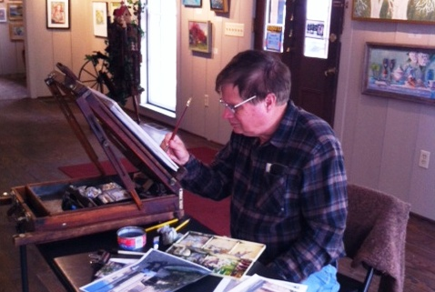 Dan_Nichols_painting_in_Maple_and_Main
