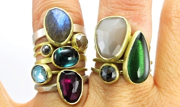 On Sunday, Nov. 30 at Lori Warner Gallery, Mandy Carroll-Leiva will present a small collection of new rings for this one-day event. Gorgeous, large cocktail rings will be unveiled. The gallery will also have a beautiful grouping of Mandy's popular, natural diamond and other unique, unheated, stone rings. Mandy Carroll-Leiva will be present and available to discuss custom rings and earrings created in time for the holidays.