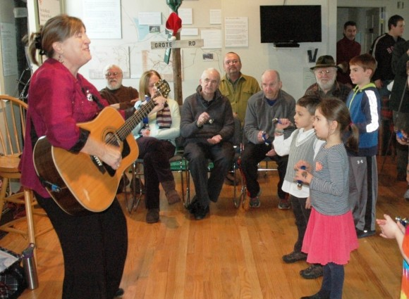 Margie Warner, songwriter, recording artist, storyteller and music consultant for young children, will perform many songs from her children's CDs during a free, interactive musical extravaganza in the Leif Nilsson Gallery on Dec. 7 from 11 a.m. to 1 p.m.