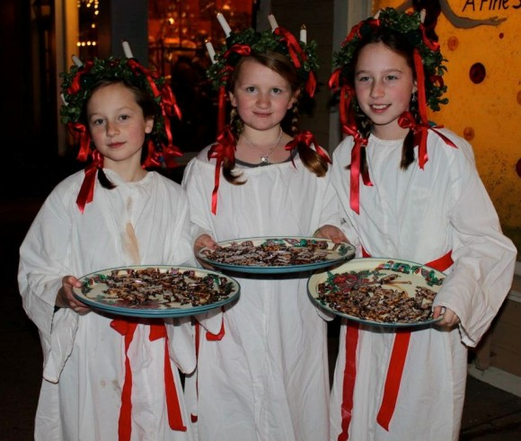 Saint Lucia Girls are a holiday tradition in Chester