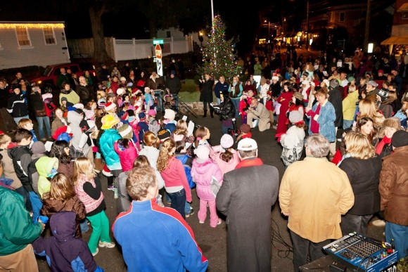 Join in the Community Carol Sing-along at 6 p.m. around the town Christmas tree