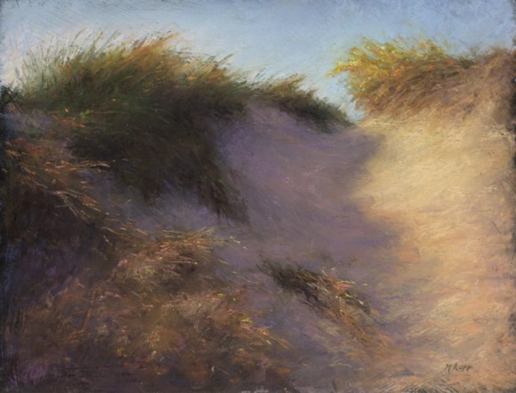 """The signature work for Maryanne Rupp's upcoming exhibition at Essex Library is """"Fragile Dunes."""""""