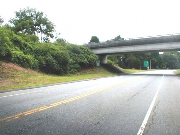 A view of the Old Saybrook exit.