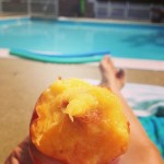 'Nectarine' by Sarah Rand, taken July 10, 2014, at Brookside Pool