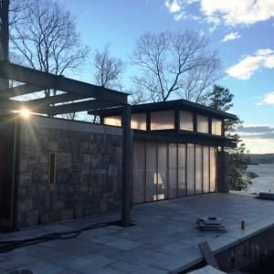 Pool house on Cove Rd. designed by Nautilus Architects
