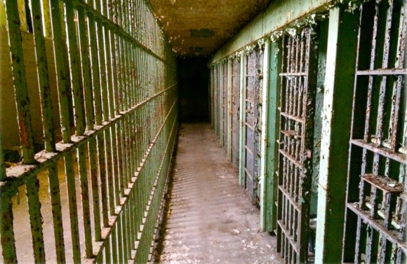 Inside the jail.