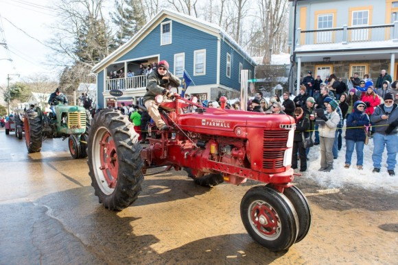 Tractors and more tractors descend on Chester on Carnivale day for the 14th Annual Tractor Parade. Photo by John Stack