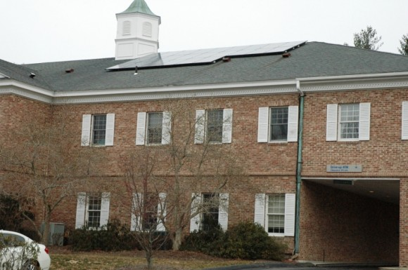 The 24-panel 6kw solar array on Chester Town Hall was awarded to the town for operating the CT Solar Challenge. A ribbon-cutting ceremony will be held on Jan. 29 at 9 a.m.