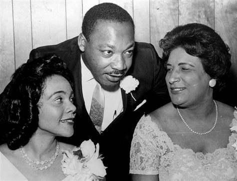 AP file photo: Dr. Martin Luther King Jr.chats with his wife, Coretta, left, and civil rights champion Constance Baker Motley before the start of a Southern Christian Leadership Conference banquet inAug. 9, 1965,in Birmingham, Ala.