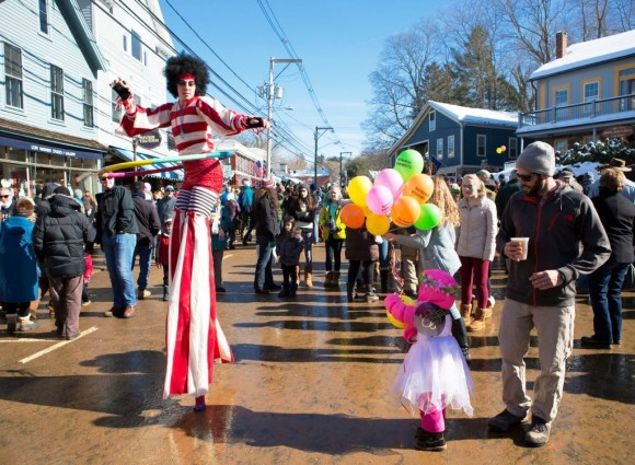 Street entertainers delight the crowds at the Chester Carnivale. Photo by John Stack.