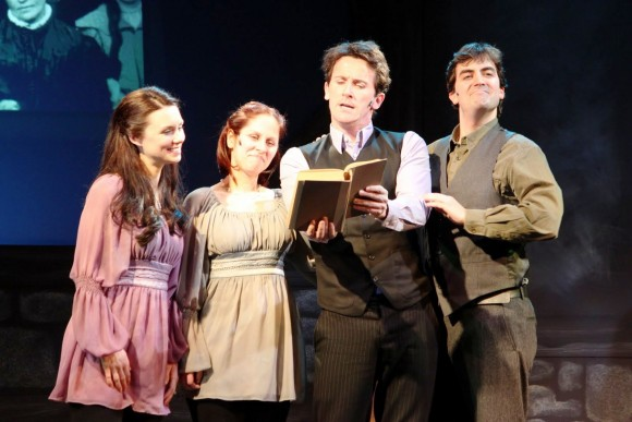 Pictured: from the left – Kathleen Mulready, Annie Kerins, Morgan Crowley and Michael McDermott in the 2011 production – The Irish …and How they got that Way. Photo: Anne Hudson