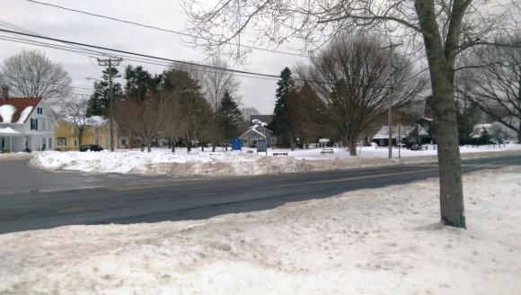 A snowy scene in Saybrook
