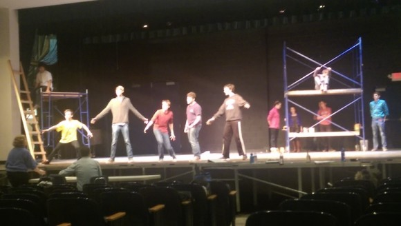 Rehearsals for West Side Story are in full swing at Old Saybrook High School.