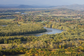 Aerial view of the Connecticut River.