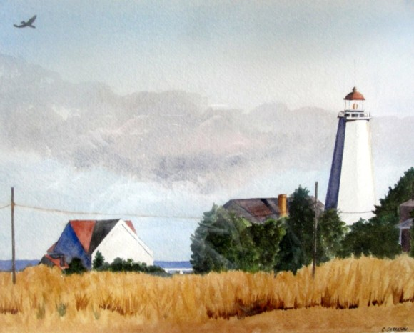 Fenwick Lighthouse by Cheryl Sorensen