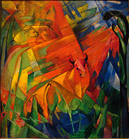 Animals in a Landscape by Franz Marc, 1914.
