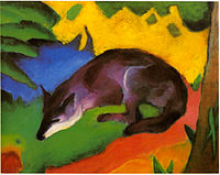 Blue black fox by Franz Marc.
