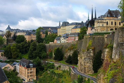 Luxembourg's Ville Haute has a stunning location