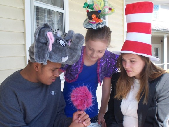 Performing in 'Seussical' are Jalen Moody of New London as Horton the Elephant, Hannah Schwartzman of Deep River as JoJo and Erin Lynch of Middletown as the Cat in the Hat.
