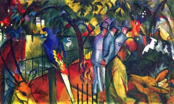 Zoological garden by August Macke, 1912.