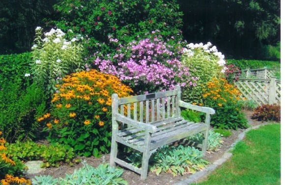 One of the beautiful gardens, which can be viewed on the June 20 tour.