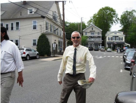Essex First Selectman Norman Needleman was on hand early in the parade.