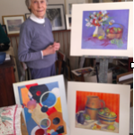 """Elizabeth Gillies """"Mike"""" Boyd in her in-residence studio at Chester Village West"""
