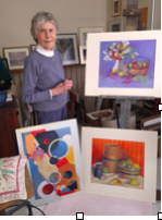 "Elizabeth Gillies ""Mike"" Boyd in her in-residence studio at Chester Village West"