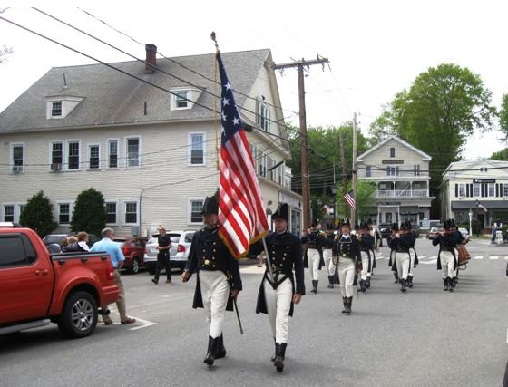 "The ""Sailing Masters of 1812"" of Essex lead the parade."