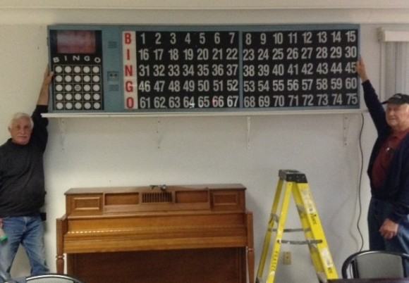 The new Bingo board at the Estuary Seniors Center.