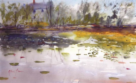Keyboard Pond II by Alan James.