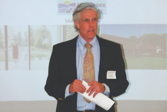 Chester First Selectman spoke at the event.