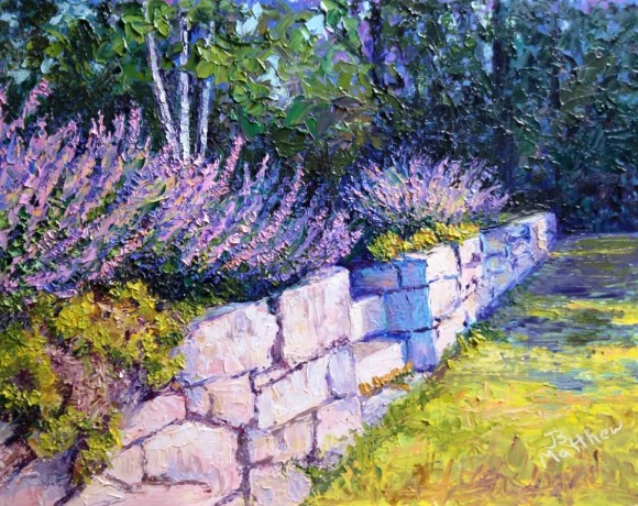 'Catmint on the Wall' is a featured painting in the upcoming Essex Art Association's Summer Open Exhibition