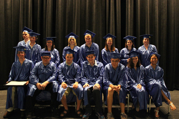 The Class of 2015: front row, (seated) from left to right are Alex Drago, Kyle Palubicki, Max Gebert, Jason Jakubovic, Bob Brown, Sarah Gabow and Lan Tagg. Back row (standing) from left to right are Mickey Teubert, Cody Clark, Kathleen Cassella, Danielle Garley, Matt Tarnell, Casey Cincotta, Jackie McMahon and Dana Butler.