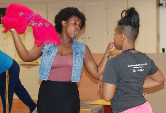 Renee Jackson* and Chawnta Marie Van in rehearsal.