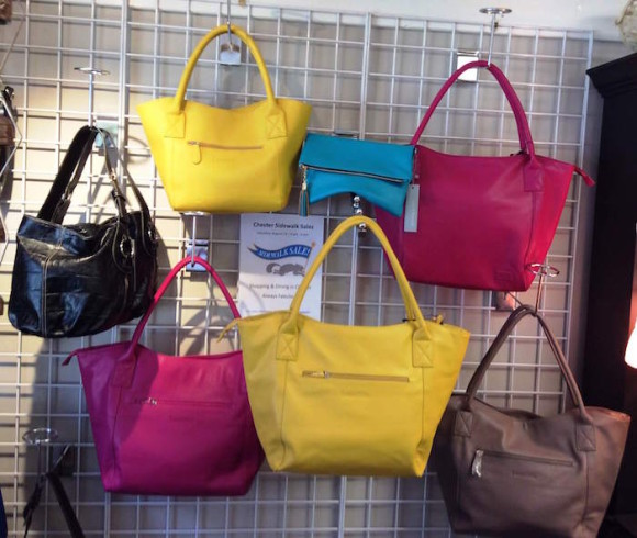 Start the fall with one of these purses found at Lark's Sidewalk Sale.
