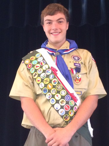 Chester/Deep River Boy Scout Troop 13 newest Eagle Scout Peter Jones. Photo by Michael Rutty.