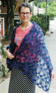 """Midnight Passion"" mohair stole by Lisa Tollefson"