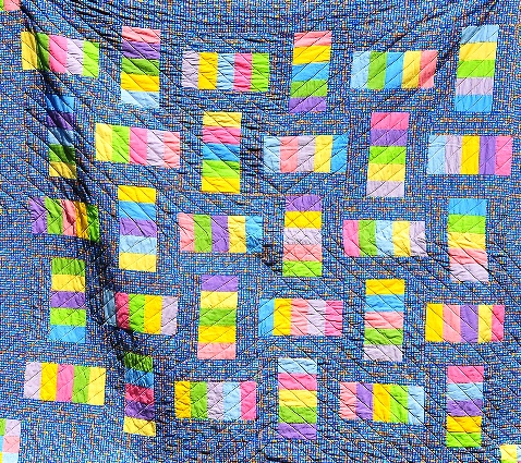 """Sorbet with Sprinkles"" quilt by Sally Murray"